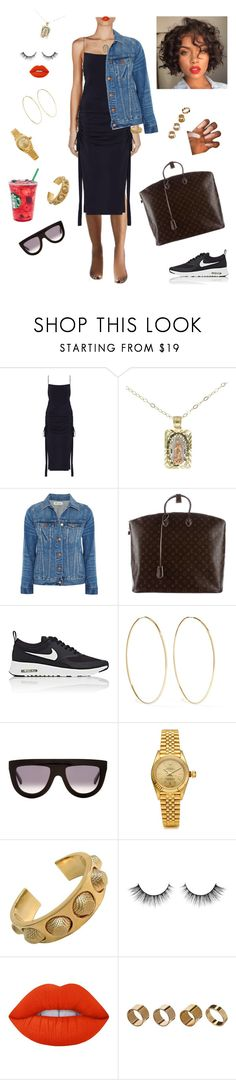 """Quick errands run!"" by styledbystaes ❤ liked on Polyvore featuring Zimmermann, Madewell, Louis Vuitton, NIKE, Magda Butrym, CÉLINE, Rolex, Balenciaga, Lime Crime and Warehouse"