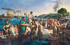Landing of Greek colonists in Sicily