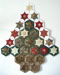 christmas tree from circles and hexagons for sale