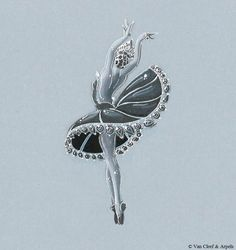 Van cleef & Arpels. Ballerina brooch sketch...♡