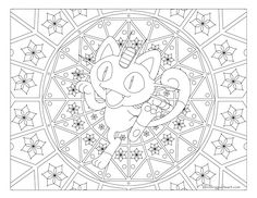 Free Printable Pokemon Coloring Page Meowth Visit Our For More Fun All Ages Adults And Children