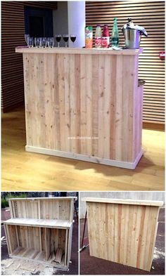 Let's try these amazing and effective plans to turn your home area into a unique environment that looks delicate and pretty when placed in your home corner. Wood pallet bar enhances beauty of your decor but provide you with the rustic and natural feel to the whole area. #bar #palletbar #pallets #woodpallet #palletfurniture #palletproject #palletideas #recycle #recycledpallet #reclaimed #repurposed #reused #restore #upcycle #diy #palletart #pallet #recycling #upcycling #refurnish #recycled