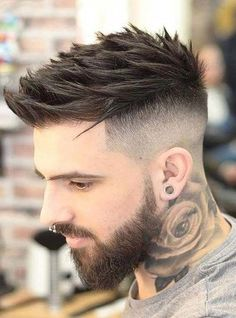 Coolest Short Hairstyles & Haircuts for Men in 2018 : Fucking And Cool Hairstyles For Men 2018 Face Shape Hairstyles, Cool Hairstyles For Men, Hairstyles Haircuts, Haircuts For Men, Haircut Men, Punk Haircut, Mens Modern Hairstyles, American Hairstyles, Haircut Styles
