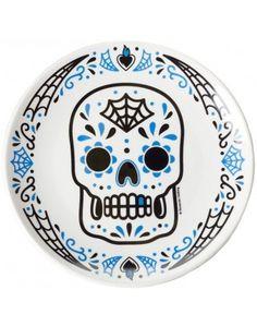 PLATE | Sugar Skull Blue