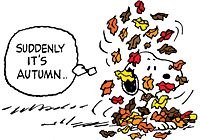 SNOOPY TUESDAY ~ AUTUMN LEAVES CARD