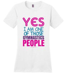Golly Girls: Gymnastics People Ladies Fit T-Shirt (Adult Sizes) only at gollygirls.com