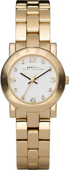 MBM3057, 3057, MARC JACOBS m jacobs watch, ladies Crystal Bracelets, Stainless Steel Watch, Fashion Watches, Gold Watch, Rolex Watches, Marc Jacobs, Bracelet Watch, Nordstrom, Amy