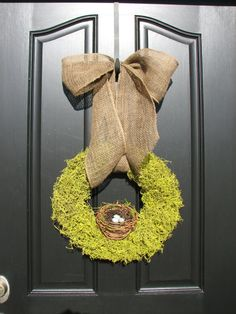 Reserved Listing for SH  18 Moss Wreath  Spring by twoinspireyou