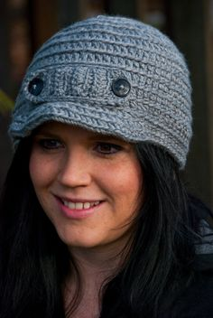 Free Crochet Pattern For Beanie With Bill : 1000+ images about learning to crochet on Pinterest ...