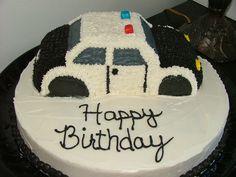 Police Car cake - Police Car birthday Cake