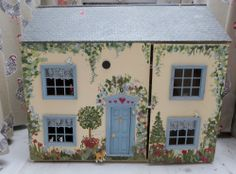 Large homemade vintage dolls house