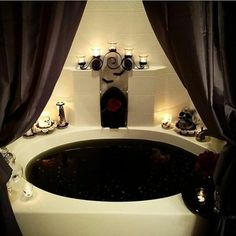 She wore her scares as her best attire a stunning dress for Gothic bathroom ideas