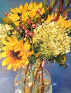 "Daily Paintworks - ""Warm Bouquet"" - Original Fine Art for Sale - © Libby Anderson"