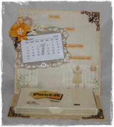 Gunns Papirpyssel, kalender, calendar, staffeli kort, card, Pion Design, papirbretting, paperfolding, paper, papir, kort, card, scrapbooking, scrapping