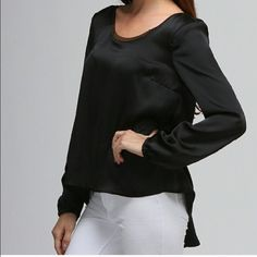 Draped Back Top Draped Back Black Top-Gorgeous-MAKE AN OFFER‼️ MOON COLLECTION Tops Blouses