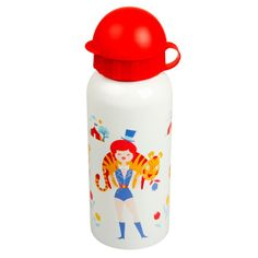 Sip in a fun way, with this cheery drinking bottle. Made from stainless steel interior, so that you don't have to worry about BPAs, PVC or any other nasties l Clowns, Stainless Steel Drink Bottles, Back To School Essentials, At Home Store, School Bags, Retro, Strong Women, Water Bottle, Pure Products