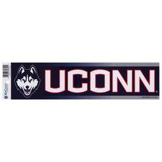 UConn Huskies - Husky & Word Logo Bumper Sticker