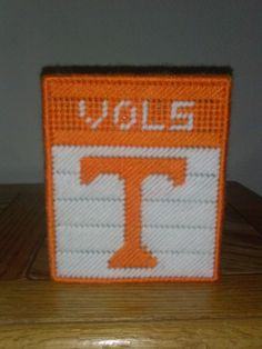College Football NCAA University of by melanieballestrazze on Etsy, $15.00 Plastic Canvas Tissue Boxes, Plastic Canvas Crafts, Plastic Canvas Patterns, College Crafts, University Of Tennessee, Tissue Box Covers, College Football, Sewing Patterns, Projects To Try