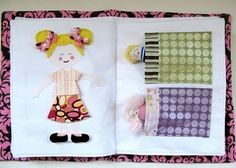 Free pattern for a toddler quiet book