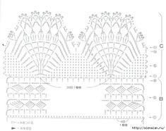 Бежевое болеро из цветочных мотивов схема 3