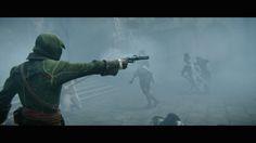 E3 2014 Assassins Creed Unity Announcement Trailer Screenshot Green Cloak