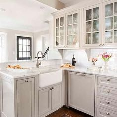 Light Gray Kitchen Cabinets, Transitional, kitchen, TerraCotta Properties