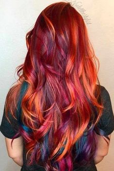 Red or Pink Hair Color Tones - Elegant and Chic Color Options and Styles for Gorgeous Auburn Hair ★ See more:. Pretty Hair Color, Beautiful Red Hair, Hair Color Purple, Hair Dye Colors, Red Hair To Purple, Red Ombre, Color Red, Ginger Hair Color, My Hairstyle