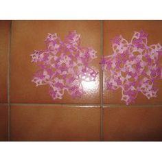 Lot Napperons Crochet - Ref 0783 - 3,00 Euros - Violet Chiné - Diamètre 15