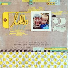 Layout made for Kreativ Scrapping Studio Calico, Mood Boards, Mittens, Sims, Layouts, Learning, Frame, Cruise, Scrapbooking