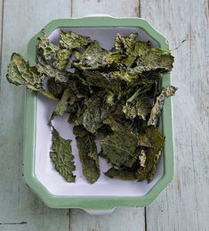 kale chips w/ sea salt + smoked paprika