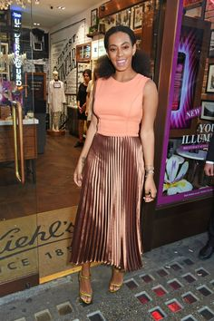 Solange Knowles wearing Barbara Casasola at the Kiehl's Pioneers by Nature Program Launch in London