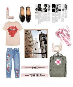 """""""Untitled #4"""" by zarmon ❤ liked on Polyvore featuring MadeWorn, Fjällräven, MANGO, Alexis Bittar, Lipstick Queen and Obsessive Compulsive Cosmetics"""