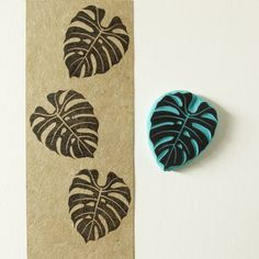 Tropical leaf stamp, leaf rubber stamp, hand carved, tropical decor, DIY summer idea by CassaStamps on Etsy https://www.etsy.com/listing/200444791/tropical-leaf-stamp-leaf-rubber-stamp