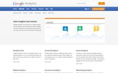 """example of """"simple copy"""" - no personality or tone - just facts. Google Analytics"""
