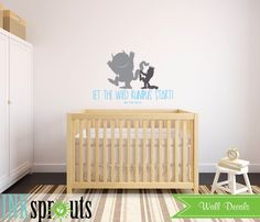 Where the wild things are Inspired Decal, Let the wild rumpus start, Wild things quote, Modern Nursery, Nursery decals, Baby Decals, by InkSprouts on Etsy https://www.etsy.com/listing/209911788/where-the-wild-things-are-inspired-decal