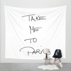 take me to paris Wall Tapestry by Julia Aufschnaiter