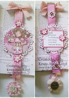 Cute bookmark!! Cute Bookmarks, Paper Bookmarks, Beaded Bookmarks, Diy And Crafts, Paper Crafts, Book Markers, Magnolias, Tampons, Copics