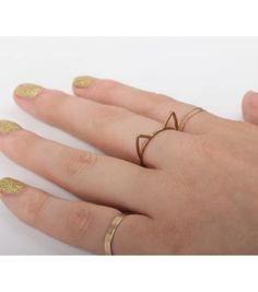Catbird :: Catbird Jewelry :: Lovecats Ring at HelloShoppers 30 Birthday Gifts, Handbag Accessories, Jewelry Accessories, Cat Ring, Buy Buy Baby, Xmas Gifts, Gold Rings, Gems, Bling