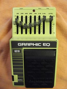 Minty 80's MIJ Ibanez GE10 Graphic EQ Guitar Pedal $98