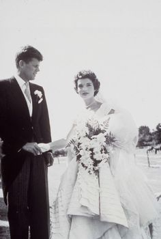 Jacqueline Kennedy Onassis on the day of her wedding to John