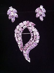 Vintage Sherman Signed Lilac Brooch AND Earrings | eBay