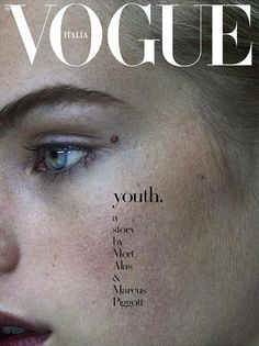 awesome Aidan Walsh and Estella Boersma lands the cover of Vogue Italia October 2015 shot by Mert & Marcus [covers]