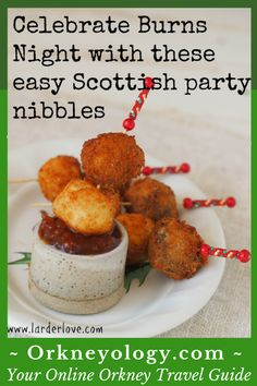 ROBERT BURNS DAY - Haggis isn't to even ones' taste but here's some brilliant ideas. Burns Baubles make a super easy haggis recipe for burns night plus lots of other great Scottish recipe ideas here Scottish Dishes, Scottish Recipes, Irish Recipes, Burns Night Recipes, Burns Night Party Ideas, Haggis Recipe, Burns Supper, Nibbles For Party, Cooking Recipes