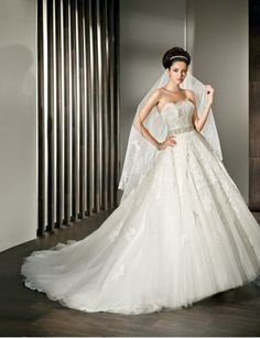 Sophisticated Demetrios Bride Gown