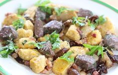 For autumn on a plate try Philippa Davis' hare loin with wild mushrooms, pancetta, ricotta and squash gnocchi for the best of the season's bounty Wild Mushrooms, Stuffed Mushrooms, Pork Roast, Gnocchi, Ricotta, Fall Recipes, Squash, Potato Salad