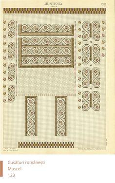 Мусчел украшения Embroidery Patterns, Cross Stitch Patterns, Cross Stitching, New Tattoos, Knowledge, Traditional, Romania, Crochet, Ethnic