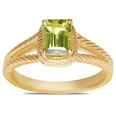 Peridot Braided Ring in 10k Yellow Gold Nissoni Jewelry…