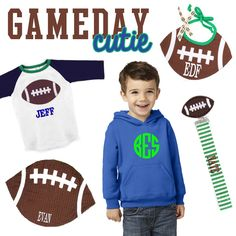 Get your little one ready for #GAMEDAY with the cutest accessories from Marleylilly.com!  #gameday #football #baby #kids #children #monograms #monogrammed #personalized #footballseason #fall #sec #acc