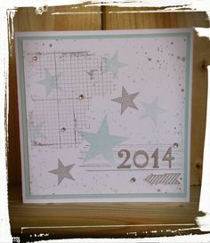 2014...... Stampin'up Gorgeous Grunge, Off the Grid,  Simply Stars, Smoky Slate en Soft Sky......