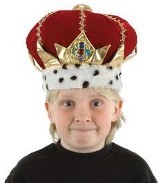 Kids King Crown Hat Plush Red Crown Hat w/Faux JewelsCommand the attention of the royal court with this king crown for kids! The plush, velvety hat is King Costume, Costume Hats, Dress Up Costumes, Costume Shop, Cosplay Costumes, Costumes Kids, King Hat, Hats For Cancer Patients, Crown For Kids
